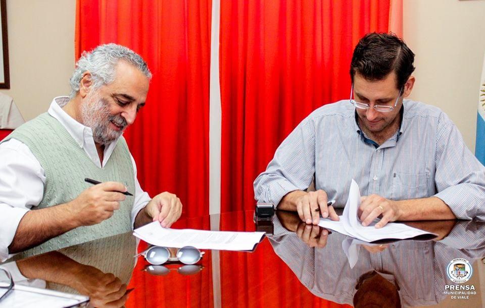 Firma de Convenio Municipio y Provincia