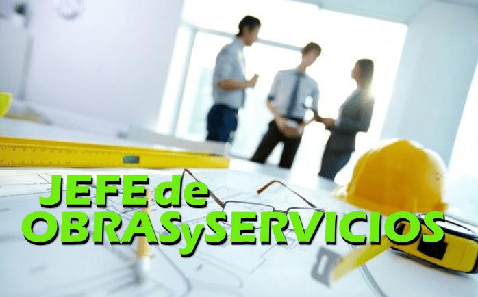 Selección del nuevo Jefe de Obras y Servicios