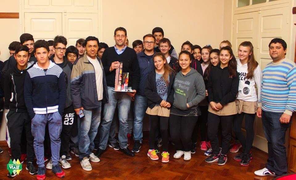 Alumnos de la Escuela Técnica visitaron al Intendente