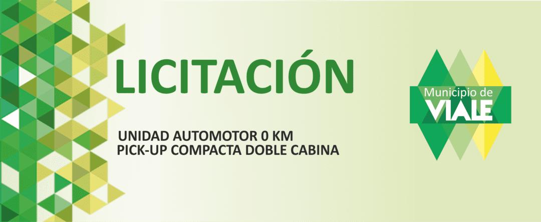 Convocan a Licitación para compra de unidad automotor