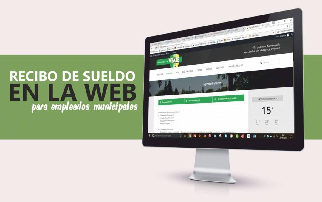 El Municipio implementó el Recibo de Sueldo on-line