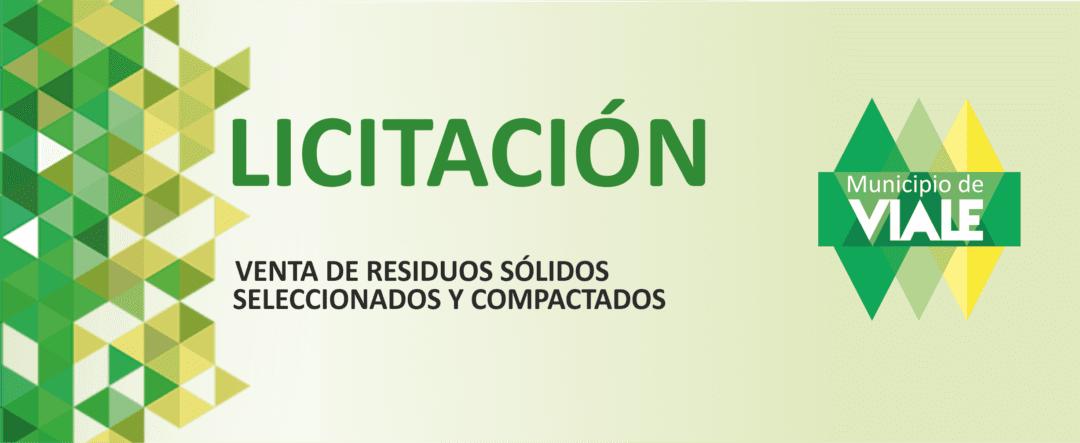 Convocan a Licitación para venta de residuos sólidos