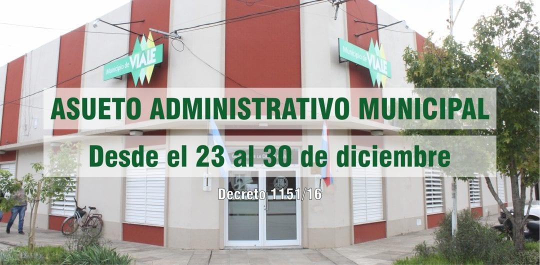 Asueto municipal en conmemoración de las fiestas