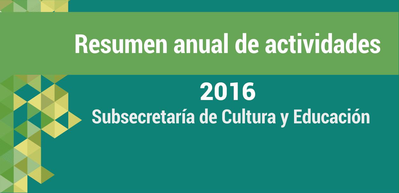 Resumen del año: Cultura y Educación