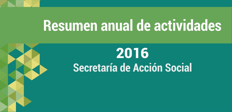 Resumen del año: Acción Social