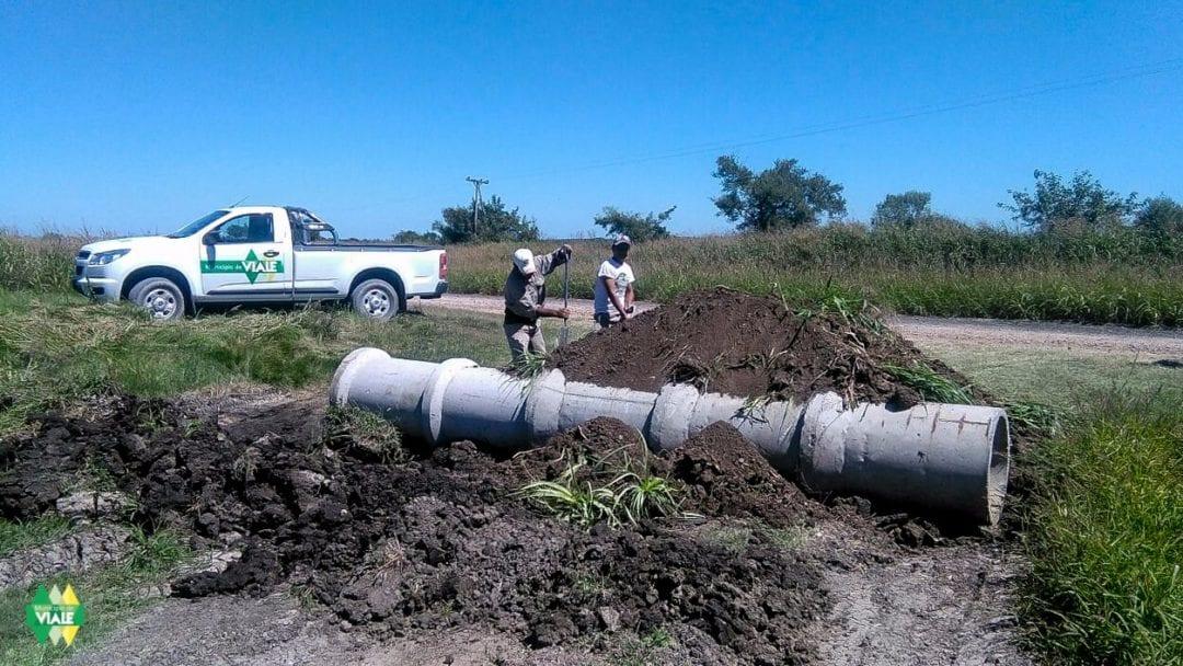 Tareas de mantenimiento en caminos rurales