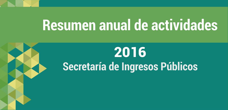 Resumen del año: Ingresos Públicos