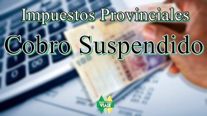 Cobro de tasas provinciales suspendidas por paro bancario