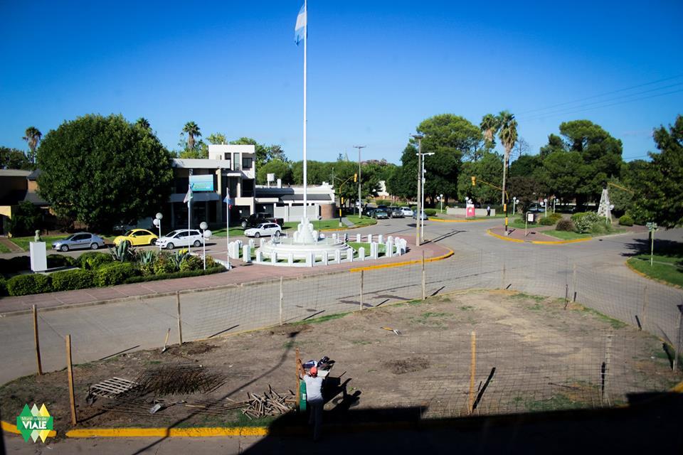 Comenzaron obras en la nueva plazoleta Malvinas Argentinas