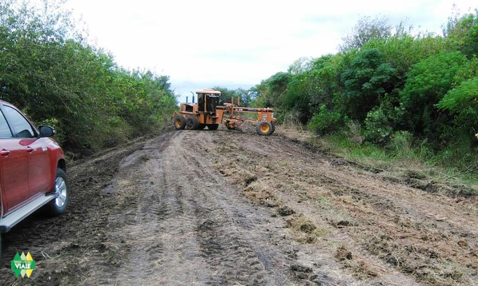 Municipio de Viale y vecinos del Tala trabajando juntos en camino rural