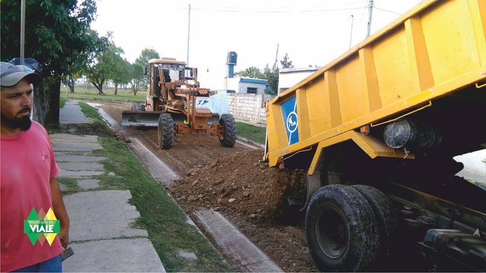 Trabajos intensivos en calles de Viale