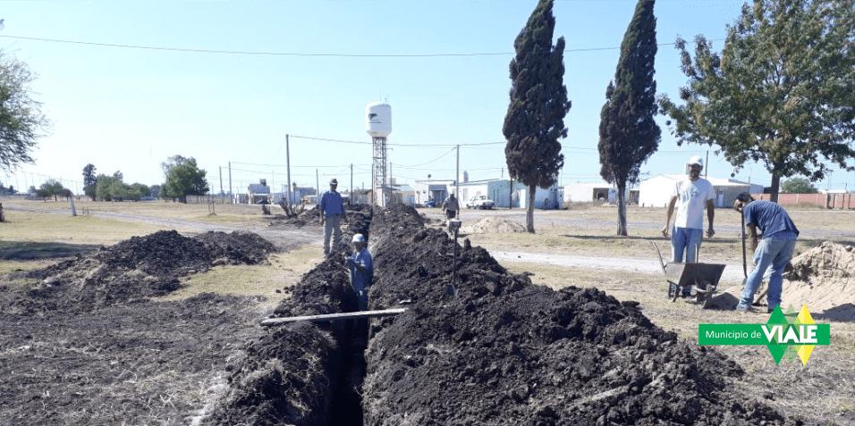Continúan los trabajos en el pozo de agua