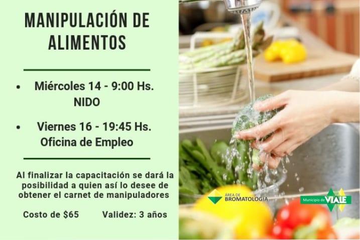 """Dos nuevas fechas para la capacitación de """"manipulación de alimentos"""""""