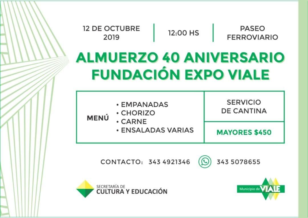 Almuerzo 40 aniversario de fundación de la Expo Viale