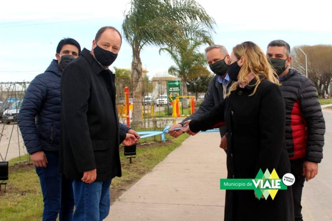 Inauguración de la remodelación de Avenida San Martín