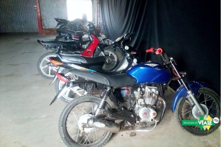 Secuestro de seis moto vehículos durante el fin de semana