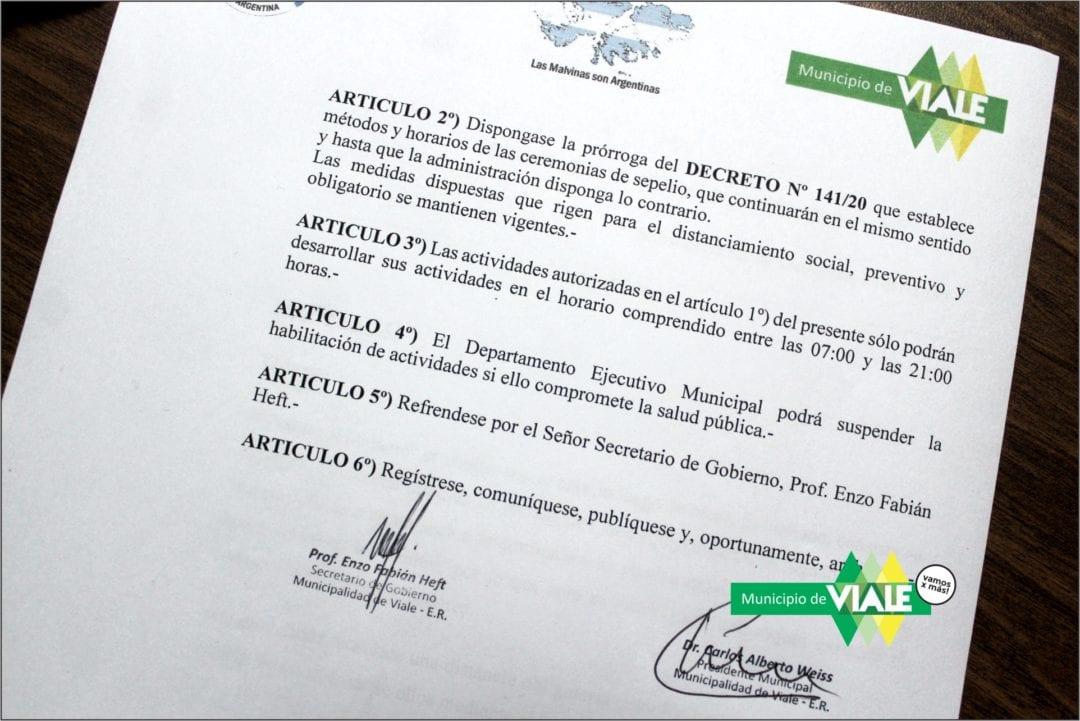 Decreto sobre ceremonias de sepelios por el COVID-19